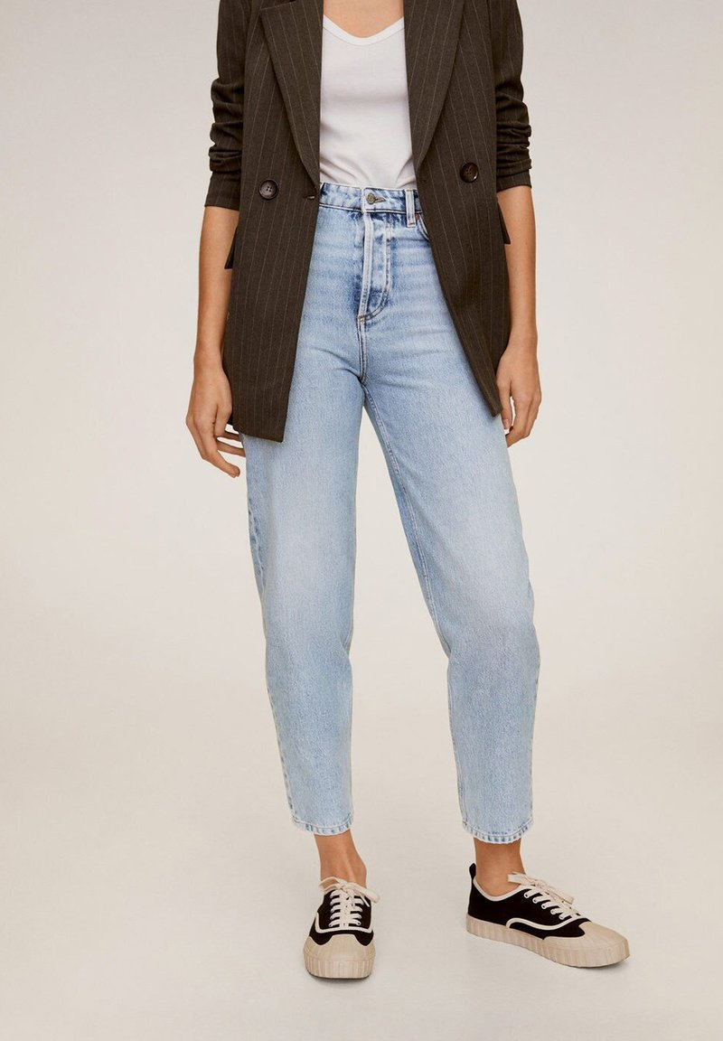 Mango - BALLOON - Jeansy Relaxed Fit - mittelblau