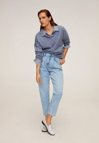 Mango - ANGELICA - Jeansy Relaxed Fit - mittelblau - 1