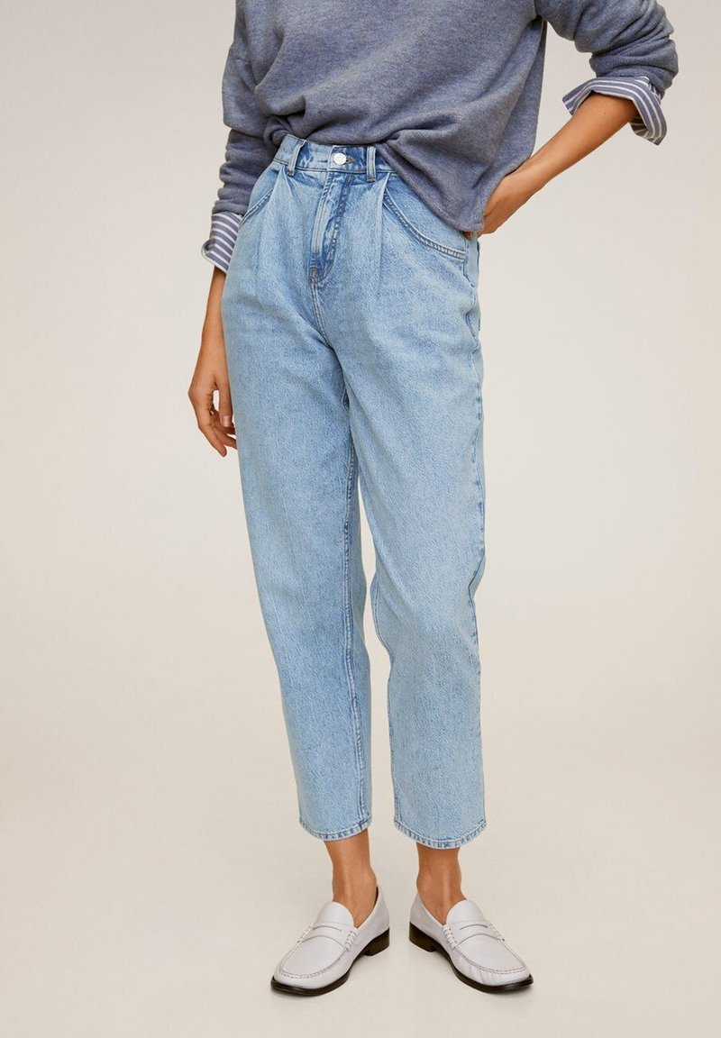 Mango - ANGELICA - Jeans Relaxed Fit - mittelblau