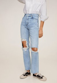 Mango - BROKENS - Straight leg jeans - medium blue - 0