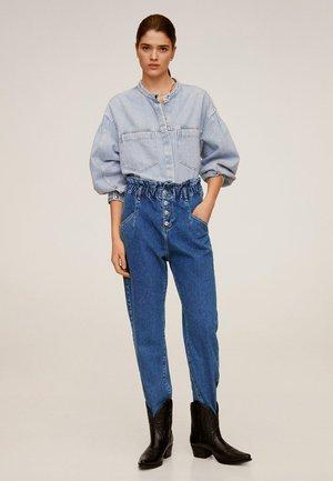 PAPERBAG - Straight leg jeans - mittelblau