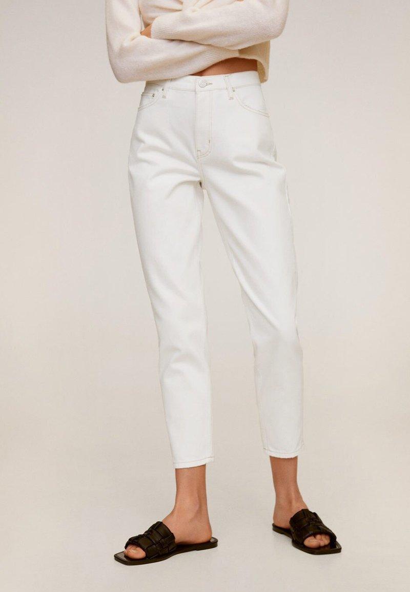 Mango - MOM - Slim fit jeans - wit