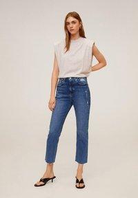 Mango - CELIA - Slim fit jeans - mittelblau - 0