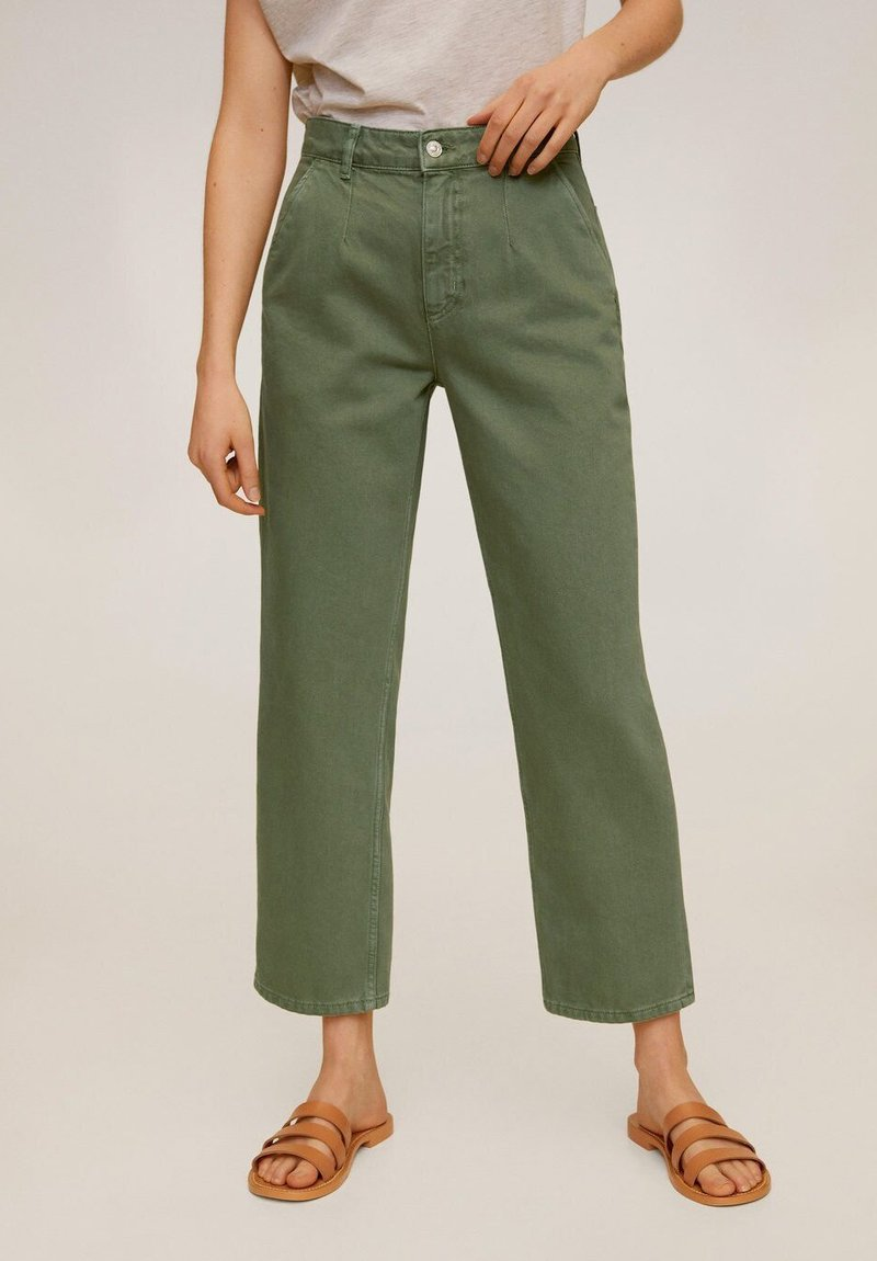 Mango - CHINO - Jeansy Straight Leg - grün