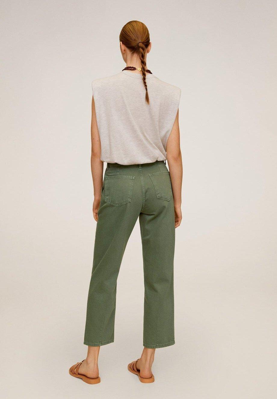 Mango Chino - Jeans A Sigaretta Grün
