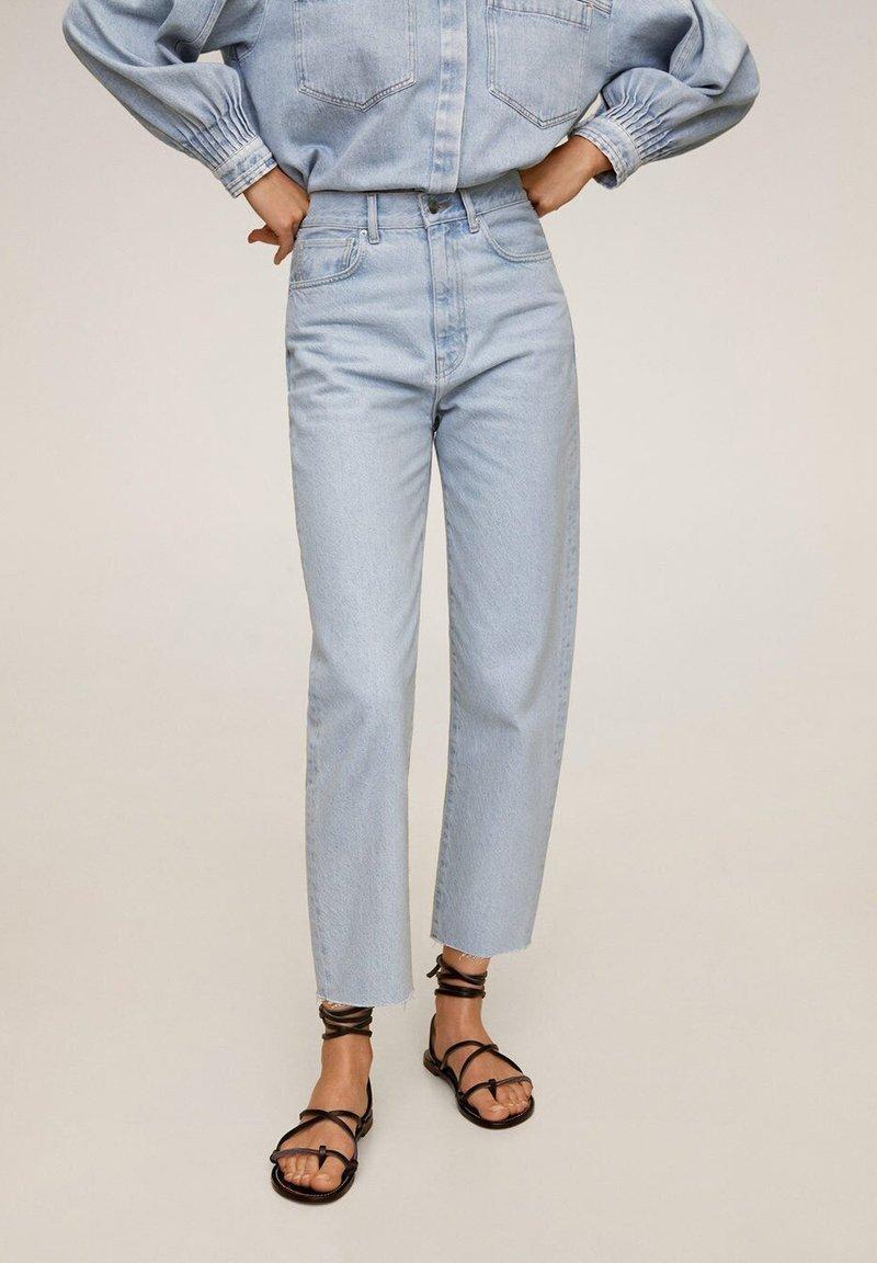 Mango - VILLAGE - Straight leg jeans - mittelblau