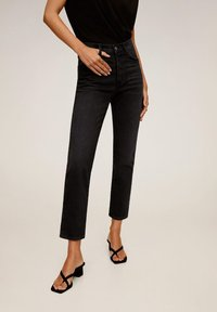 Mango - GISELE - Jean slim - black denim - 1