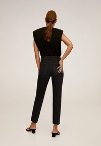 Mango - GISELE - Jean slim - black denim - 2
