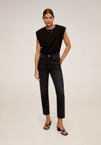 Mango - GISELE - Jean slim - black denim - 0