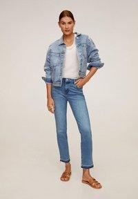 Mango - GRACE - Jeans Straight Leg - bleu moyen - 1