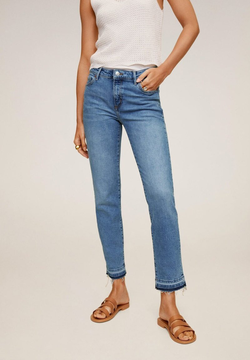 Mango - GRACE - Jeans Straight Leg - bleu moyen