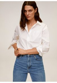 Mango - Relaxed fit jeans - mittelblau - 4