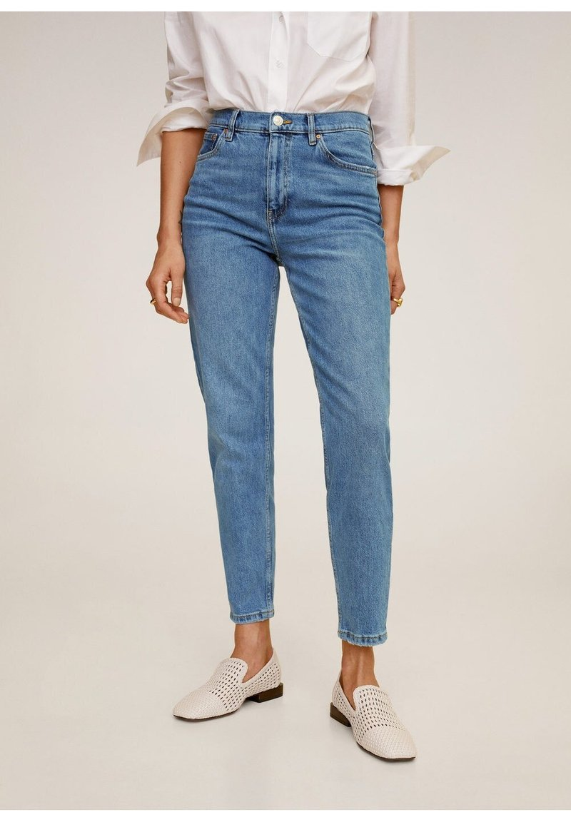 Mango - Relaxed fit jeans - mittelblau