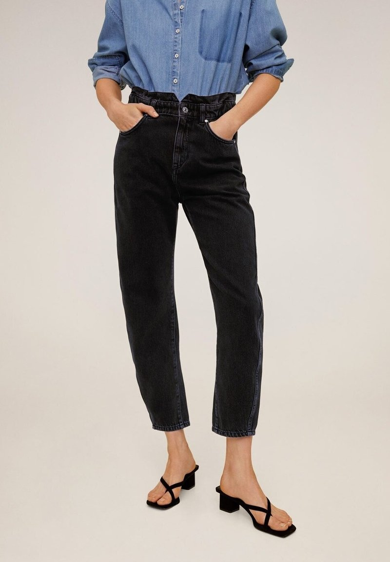Mango - SLOUCHY - Jeans baggy - black denim