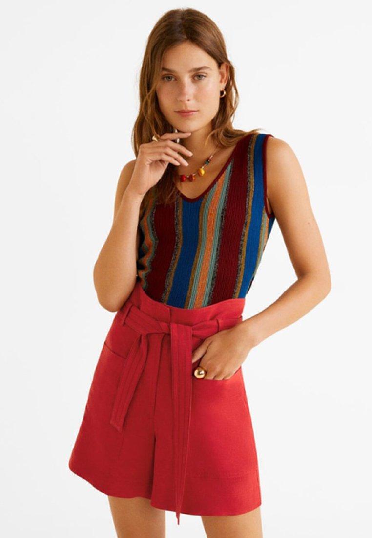 Mango - POCKET - Shorts - red