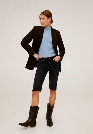CYCLING - Short en jean - black denim