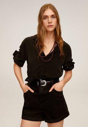 PAPERBAG - Denim shorts - black denim