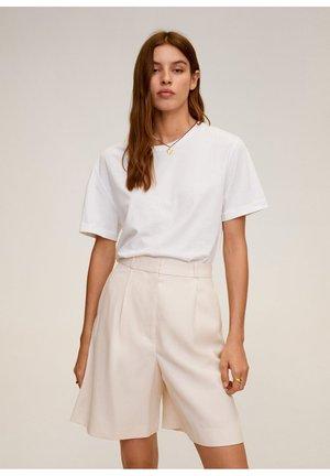 BERMUDA TAILLEUR TAILLE HAUTE - Shorts - gris clair pastel