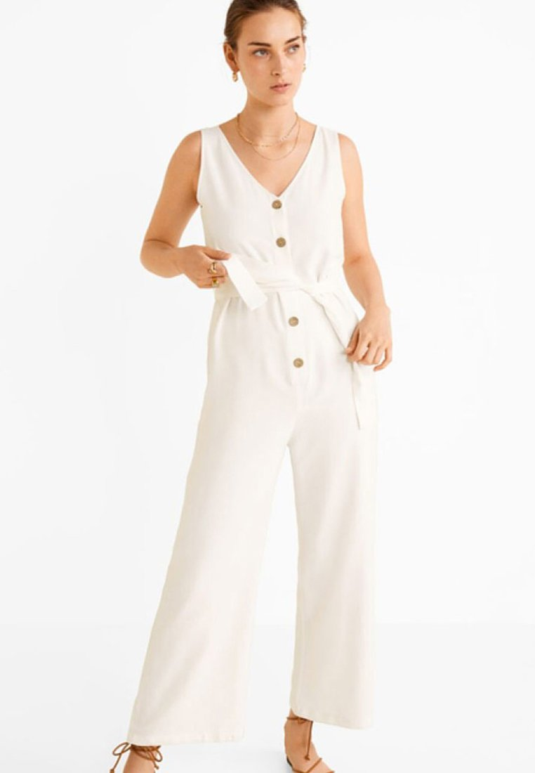 Mango - FIELD - Jumpsuit - creamy white