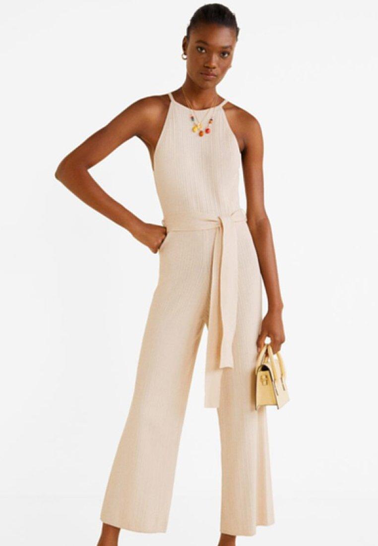 Mango - CRINKLE - Jumpsuit - off-white
