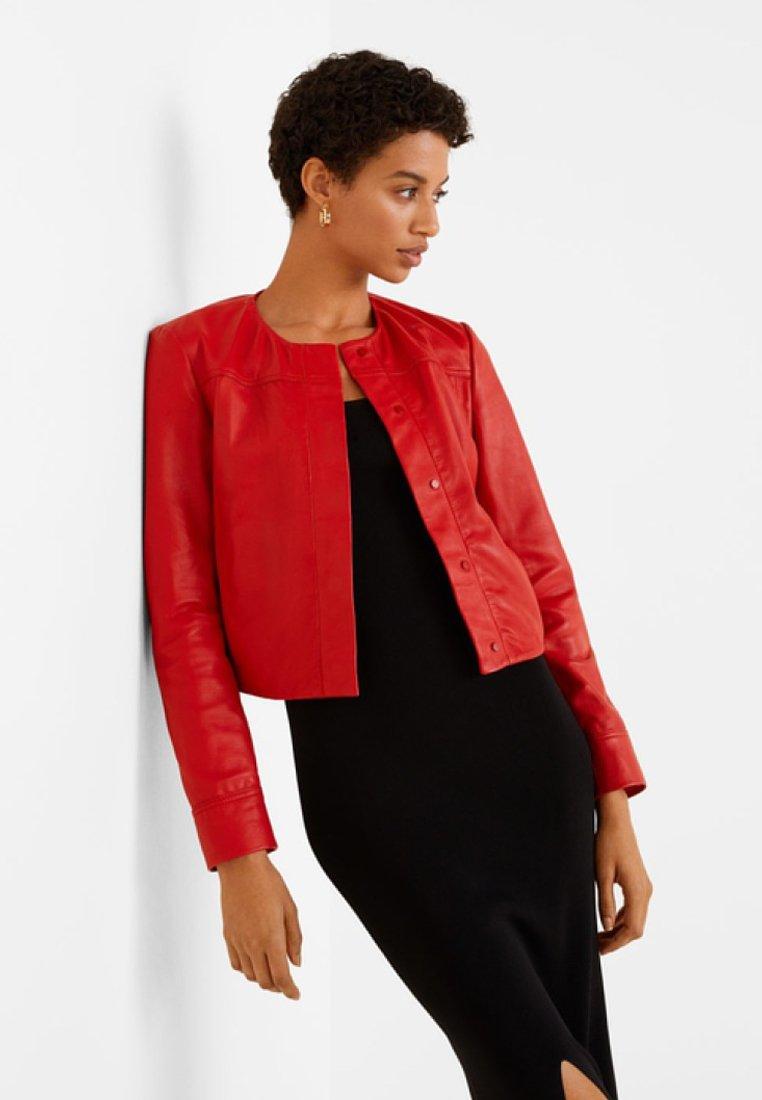 Mango - JANNA - Leather jacket - red