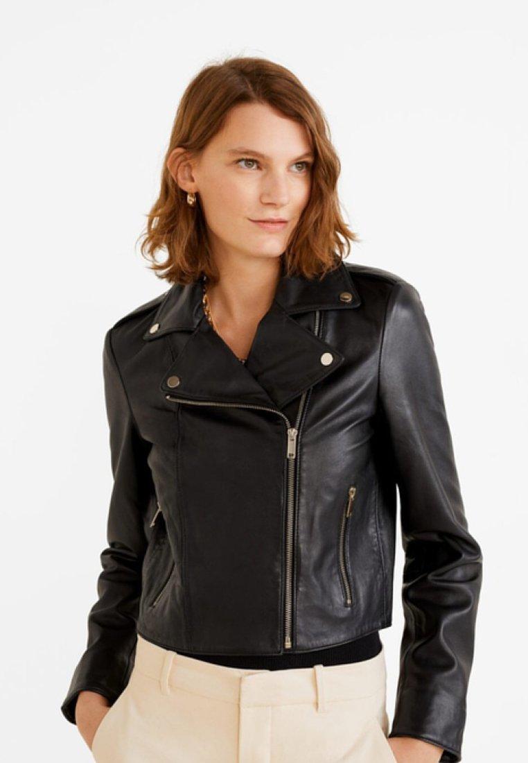Mango - SIBILA5 - Leather jacket - black