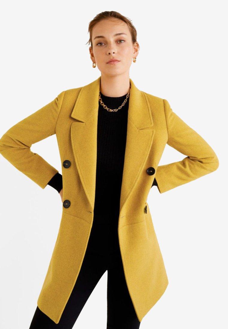 Mango - ROCK - Halflange jas - mustard yellow
