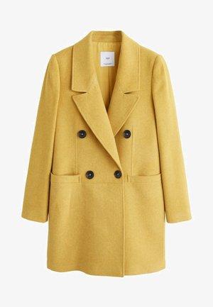 ROCK - Pitkä takki - mustard yellow