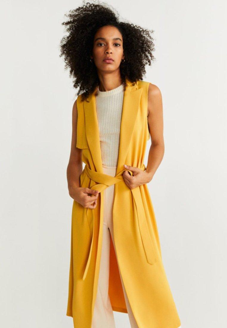 Mango - TERE-A - Waistcoat - mustard