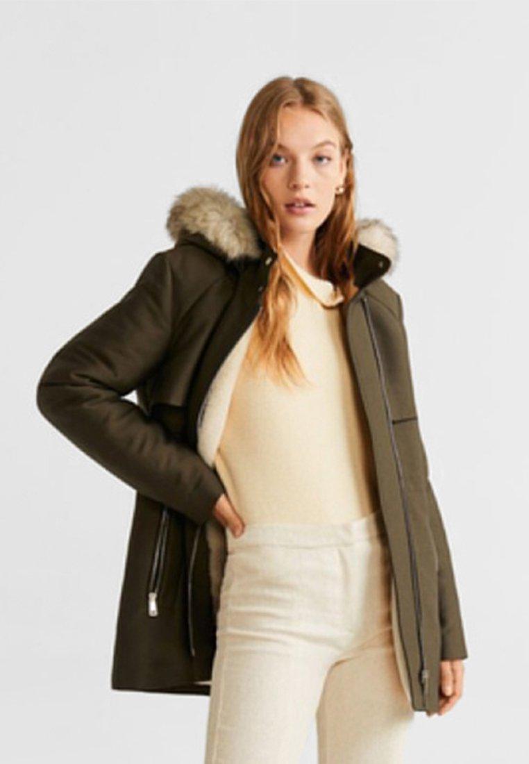 Mango - PARTY - Winter jacket - khaki