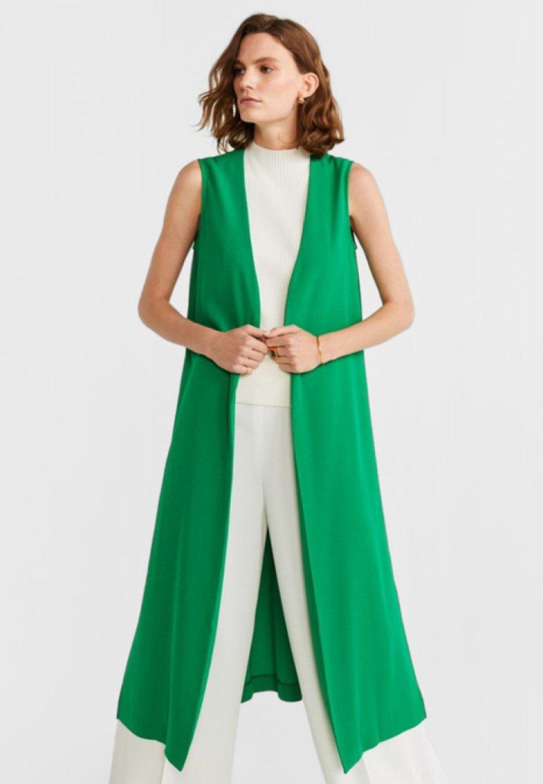 Mango - Waistcoat - green