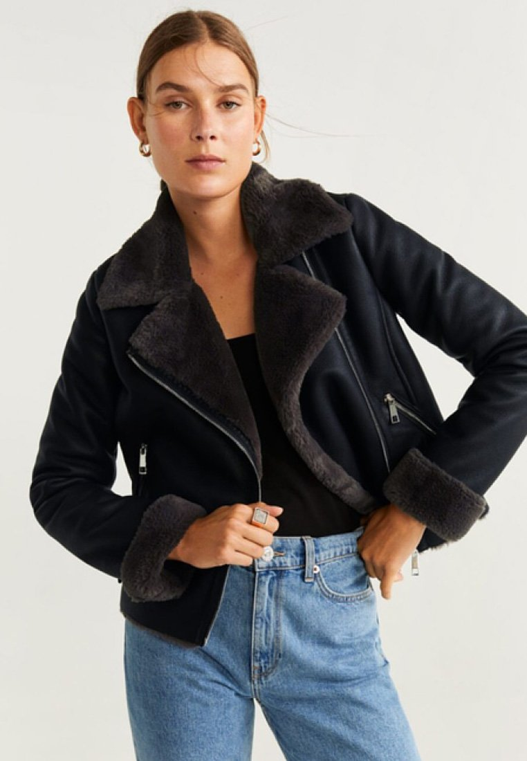 Mango - CADI - Faux leather jacket - black