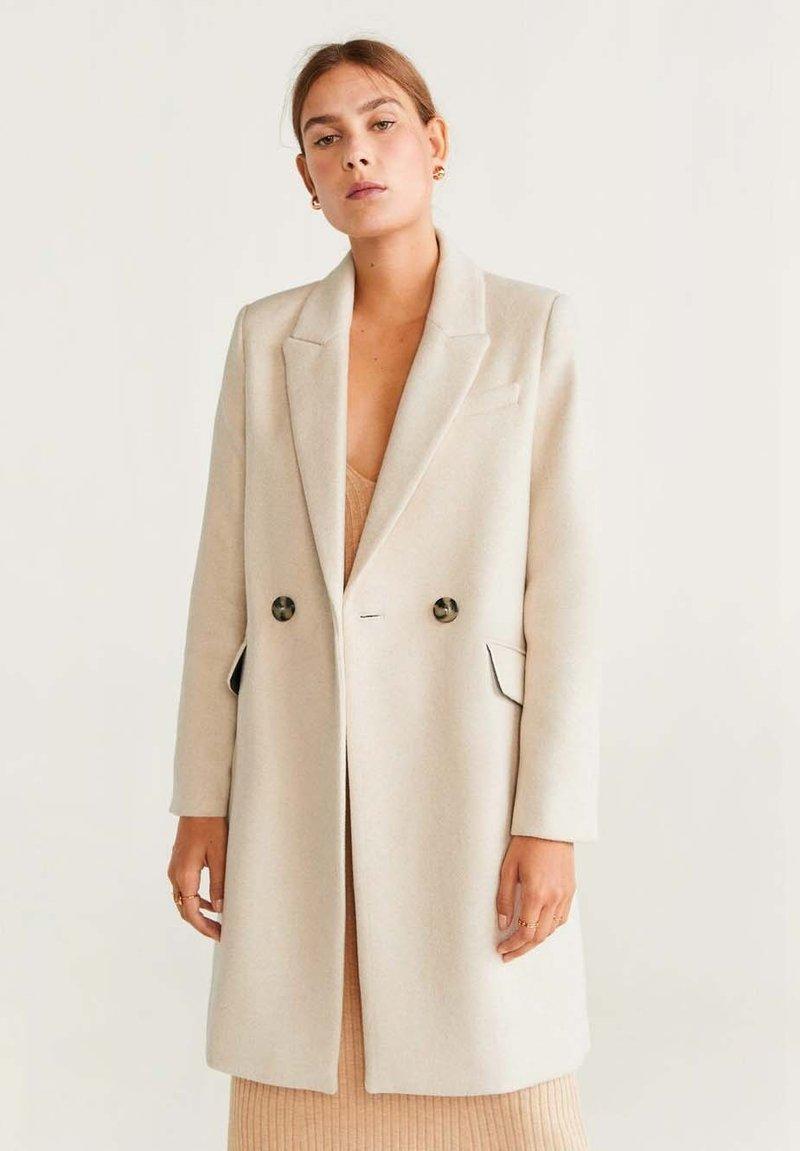 Mango - DALI - Short coat - ecru