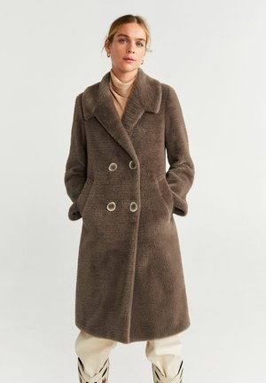VINTAGE - Płaszcz wełniany /Płaszcz klasyczny - medium brown