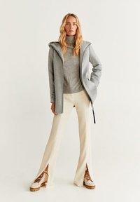 Mango - AUDREY - Krótki płaszcz - mottled grey - 1