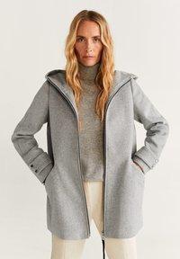 Mango - AUDREY - Krótki płaszcz - mottled grey - 0