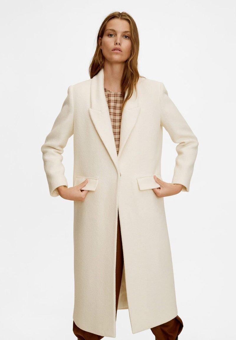 Mango - VENICE - Classic coat - creamy white