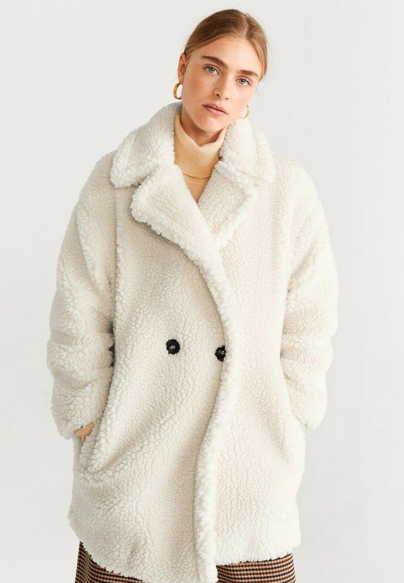 Mango - SHORTBOX - Winter coat - Cream white