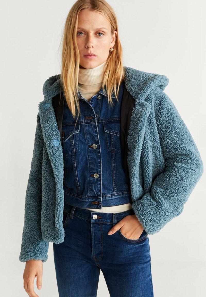 Mango - BRIE - Fleece jacket - blue