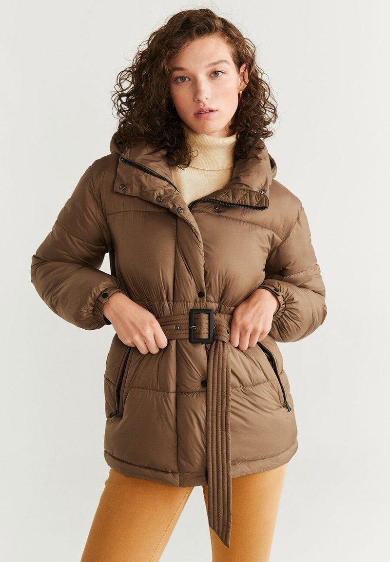 Mango - JOURNAL - Down jacket - brown