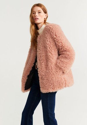 RITA LONG - Fleece jacket - pastel pink