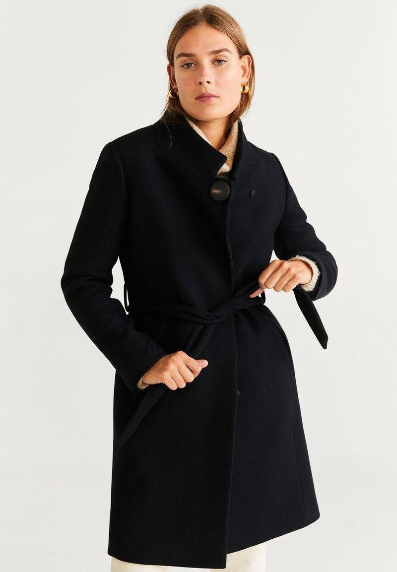 Mango - TIERRA - Płaszcz wełniany /Płaszcz klasyczny - black
