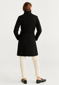 Mango - TIERRA - Płaszcz wełniany /Płaszcz klasyczny - black - 2