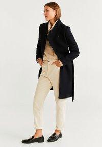 Mango - TIERRA - Płaszcz wełniany /Płaszcz klasyczny - black - 1