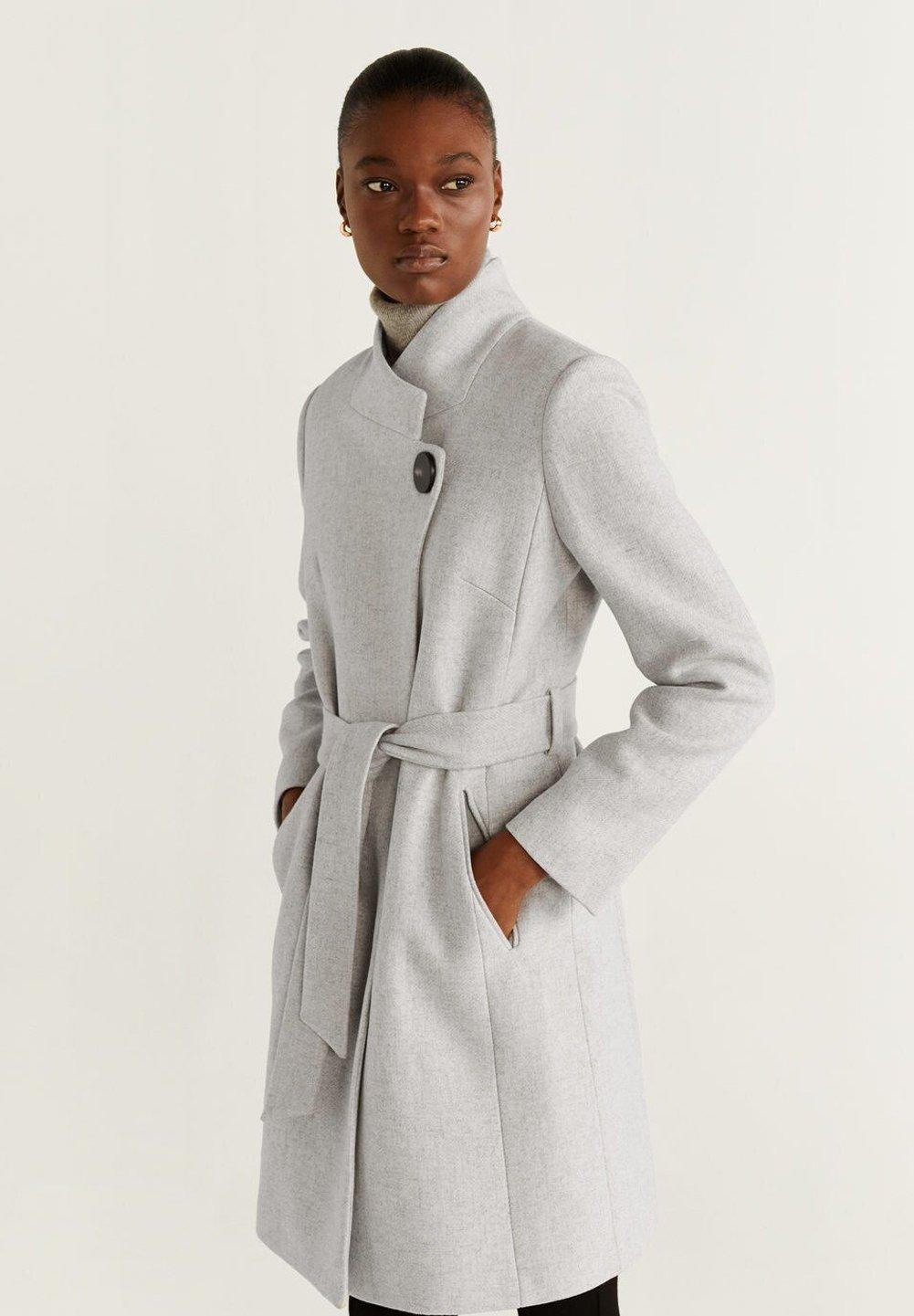 Mango TIERRA - Płaszcz wełniany /Płaszcz klasyczny - mottled light grey