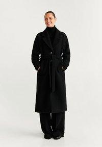Mango - ROBE - Classic coat - black - 1