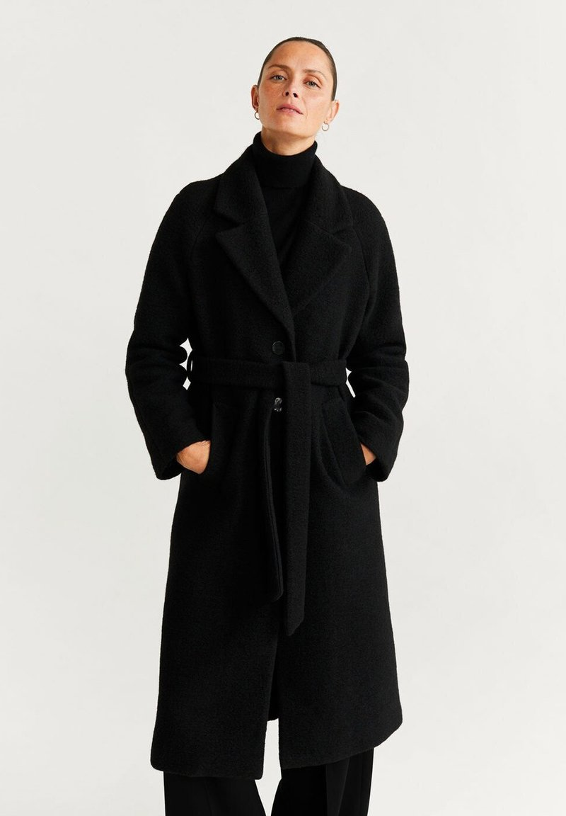 Mango - ROBE - Classic coat - black