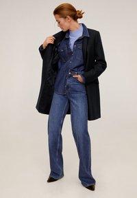 Mango - STREEP - Short coat - dark navy blue - 1