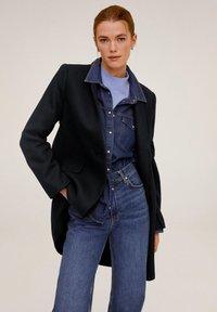 Mango - STREEP - Short coat - dark navy blue - 2