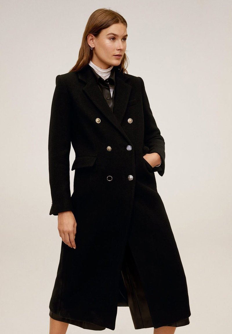 Mango - WATERLOO - Classic coat - black